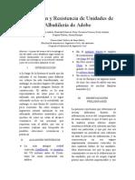 Elaboración y Calculo de Resistencia de Unidades de Albañileria de Arcilla