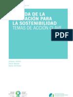 Década de la educación para la Sostenibilidad-Temas de acción cla