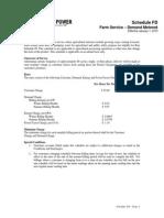 Turlock Electric Rates - Schedule FD