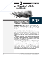 1st Quarter 2015 Lesson 3 Easy Reading Edition a Matter of Life and Death