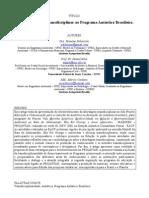 Uma Abordagem Transdisciplinar Ao Programa Ant Rtico Brasileiro - Roseane Palavizini Et Al