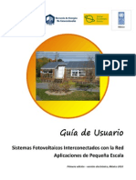 Guía de Usuario SFVI Pequeña Escala Electrónica