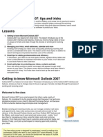 Course Session 218497 Microsoft Outlook 2007 Tips and Tricks