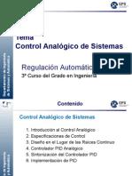 Tema 6 - Control Analogico de Sistemas