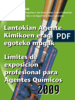 Límites de exposición profesional a agentes quimicos 2009