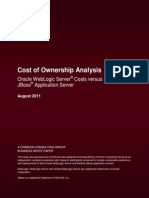 Cost of Ownership Analysis Oracle WS vs JBoss