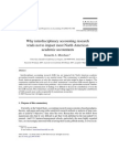 Why Interdisciplinary Accounting Research Tends Not to Impact Most North American Academic Accountants 2008 Critical Perspectives on Accounting