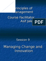 Session 9 - Managing Change & Innovation
