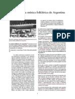 Historia de La Musica Folklorica de Argentina