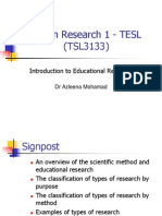 Lecture 1 Intro to Edu Research
