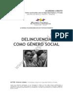 La Delincuencia Como Genero Social