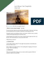 20 de Metode de Meditatie