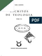Karl Rahner, Espiritualidad Antigua y Actual