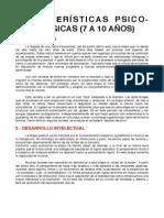 Características (8 a 10 Años)