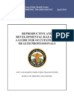 Oem Reproductive and Developmental Hazards a Guide for Occupational Health Professionals