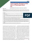 Fetal Aortic-cerebral Doppler Resistance Index Ratio