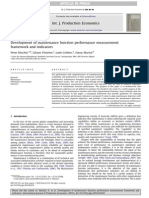 Development of Maintenance Function Performance Measurement