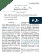 World Development Volume 59 Issue 2014 [Doi 10.1016%2Fj.worlddev.2014.01.030] Garg, Reetika; Dua, Pami -- Foreign Portfolio Investment Flows to India- Determinants and Analysis