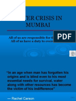 ORF Presentation on Water Crisis in Mumbai