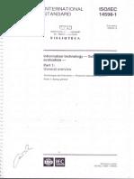 ISO 14598 Evaluacion de Productos de Software