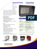 VoIP Outdoor Intercom with Keypad Operations Guide