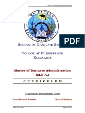 MBA-Curriculum-G doc | Master Of Business Administration