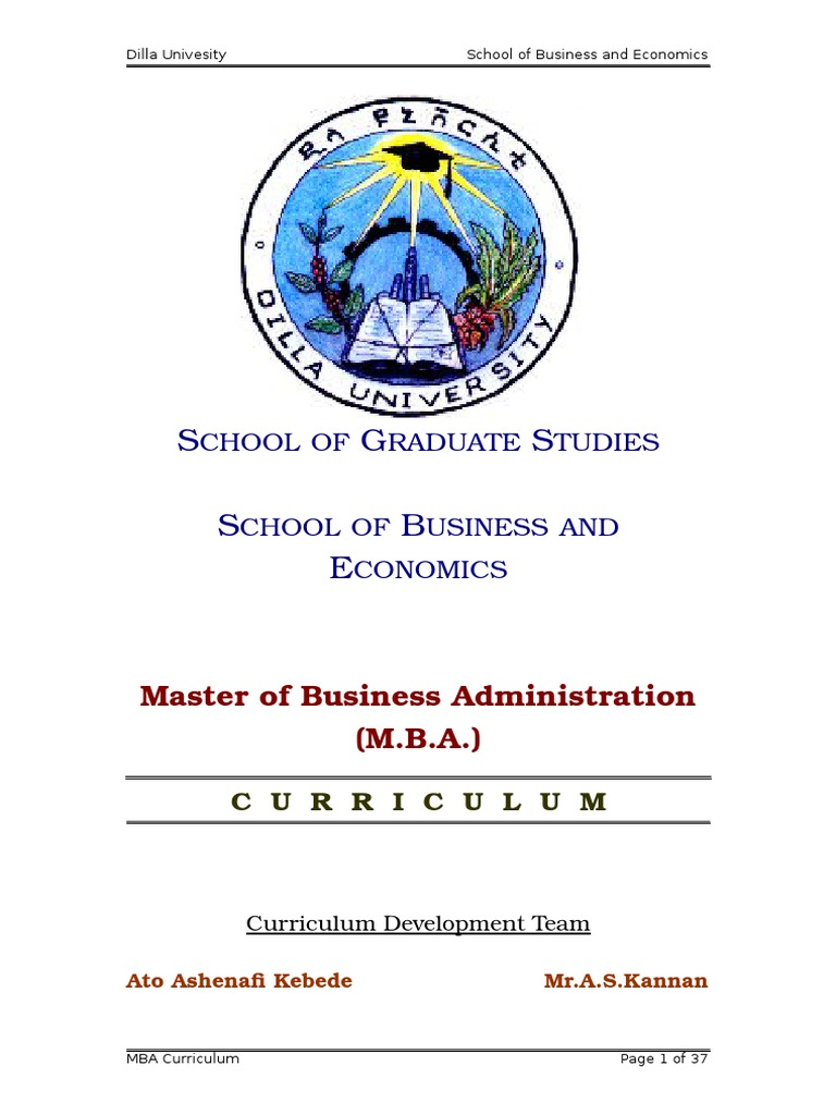 MBA-Curriculum-G doc | Master Of Business Administration | Strategic