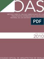 09Cálculo Simplificado de Los Presupuestos Estimativos de Ejecución Material Año 2010