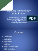Routine Hematology Examination