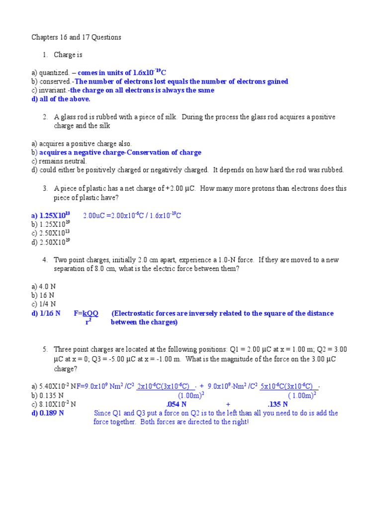 2012 Chapter 1617 Multiple Choice Answers Electric Charge Voltage Metal Detector Circuit Circuits4youcom