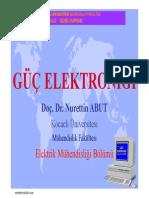 Güç Elektroniği - Kocaeli Üniversitesi Do.dr.Nurettin Abut Ders Notları.