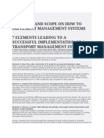 Elements and Scope on How to Implement Management Systems