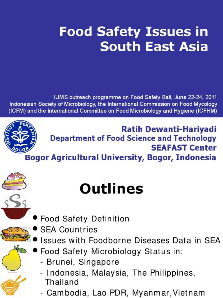 17 Food Safety Issues In Asia Seafast Pdf Foodborne Illness Cholera