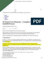 16 Zenoss Core Daemons – Complete List of All ZenOSS Process