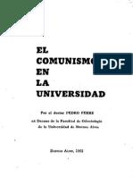 1962.  Comunismo en La Universidad