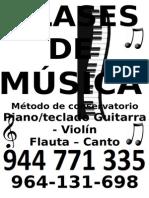 CLASES de MÚSICA Afiche Vertical