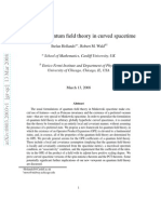 Axiomatic quantum field theory in curved space time