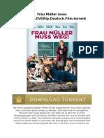 Frau Müller Muss Weg.2015.DVDRip.deutsch.film.Torrent