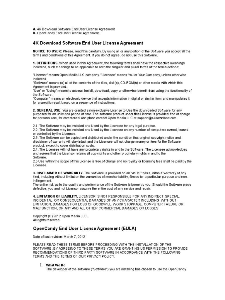 Eula License Private Law