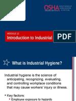 12 Intro Industrial Hygiene