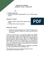 Subiect - Barem Psihologie