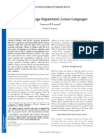 Specific Language Impairment Across Languages
