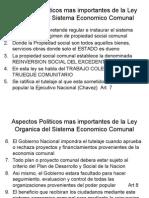 Aspectos Politicos Ley S E Comunal