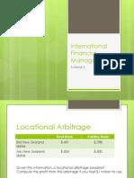 Arbitrage and IRP - Tutorial 6