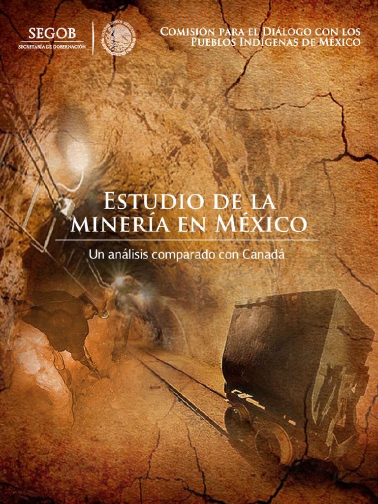 ESTUDIO DE LA MINERIA EN MEXICO (UN ANALISIS COMPARADO CON CANADA ...