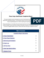 Peace Corps Small Grants Completion Report