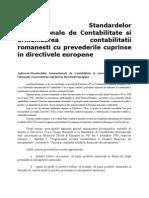 Aplicarea Standardelor Internationale de Contabilitate Si Armonizarea Contabilitatii Romanesti Cu Prevederile Cuprinse in Directivele Europene - Copy