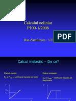 Calcul Static Neliniar