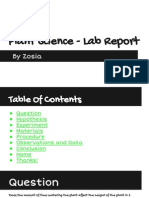 plant science - lab report