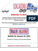 Wanted to Buy Bulletin January 14, 2015
